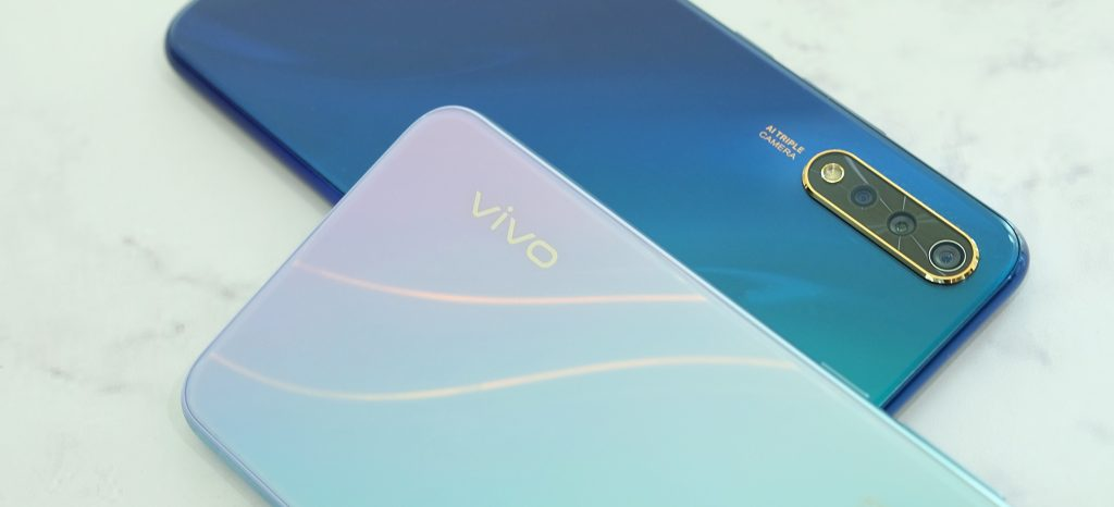 vivo S1 Skyline Blue and Cosmic Green