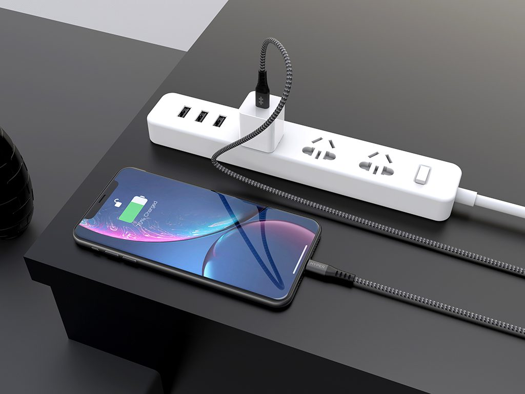 HYPER Releases Wearable USB-C to Apple MFi Lightning Cables