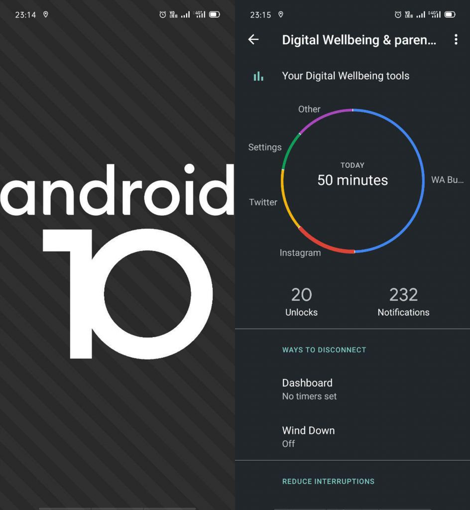 Fitur Digital Wellbeing pada Android 10