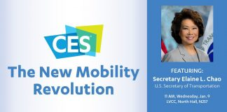 U.S. Secretary of Transportation Elaine L. Chao to Deliver Keynote at CES 2020 (Photo: twitter.com/CES)