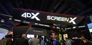 Attendees waiting in line to see 4DX Screen at CES 2020