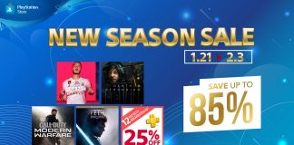 PlayStation™ Store New Season Sale Exclusive Offers Up to 85% Discount on Selected Titles