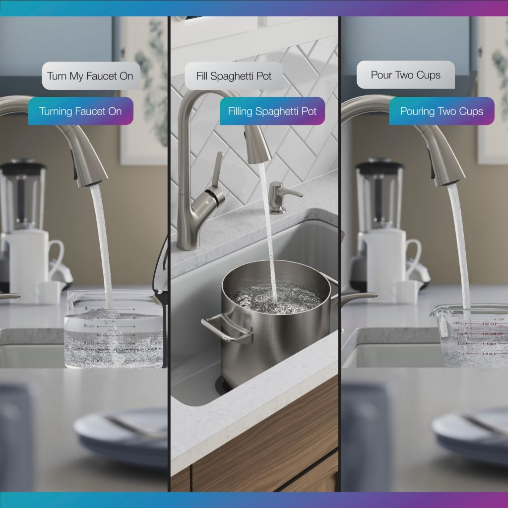Kohler adds to its touchless and connected kitchen faucet portfolio with Setra, offering a state-of-the-art sensor and on/off and measured dispense operation when paired with a voice assistant.