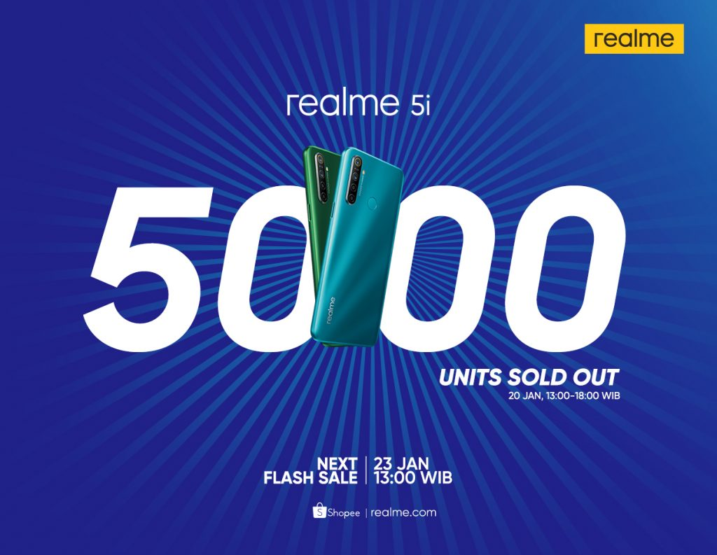 realme 5i First Flash Sale Result