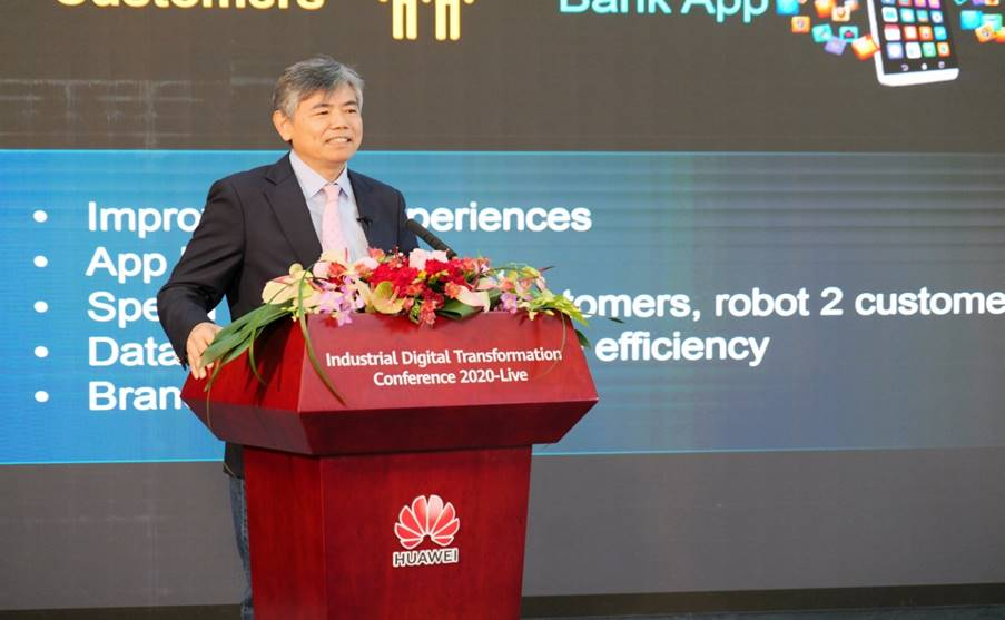 Chen Kunte, former Chief Information Officer of China Merchants Bank and currently Digital Transformation Officer of Global Financial Services in Huawei's Enterprise Business Group